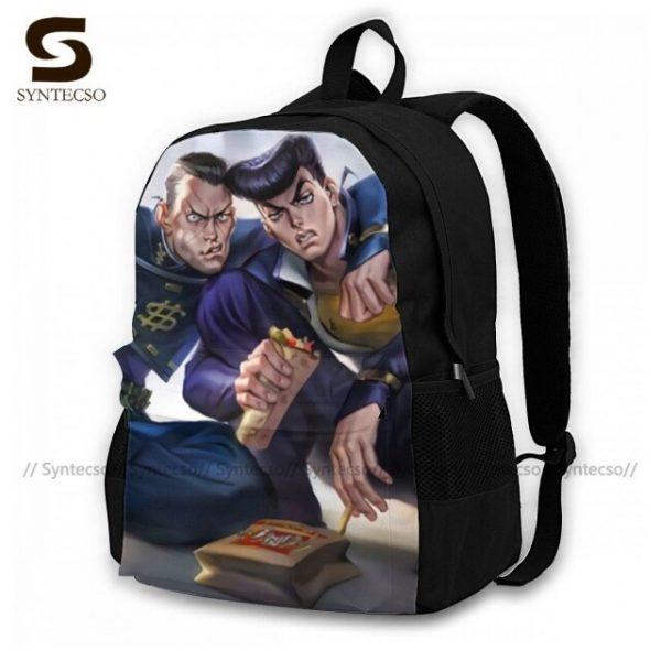 Jojo Bizarre Adventure Backpacks Elegant Polyester Commuter Backpack Female Durable Bags 3.jpg 640x640 3 - Anime Backpacks