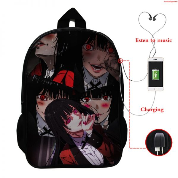 Kakegurui Compulsive Gambler Kids School Bags Laptop Computer School Backpack Bag Mochila Teenager Usb Charging Travel - Anime Backpacks