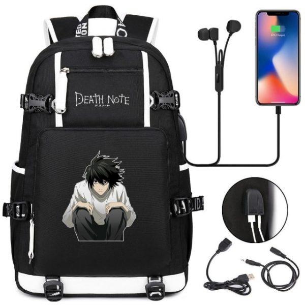 New Anime Death Note USB Backpack School Bags Bookbag Men Women Travel Laptop Shoulder Bags Gift 2.jpg 640x640 2 - Anime Backpacks