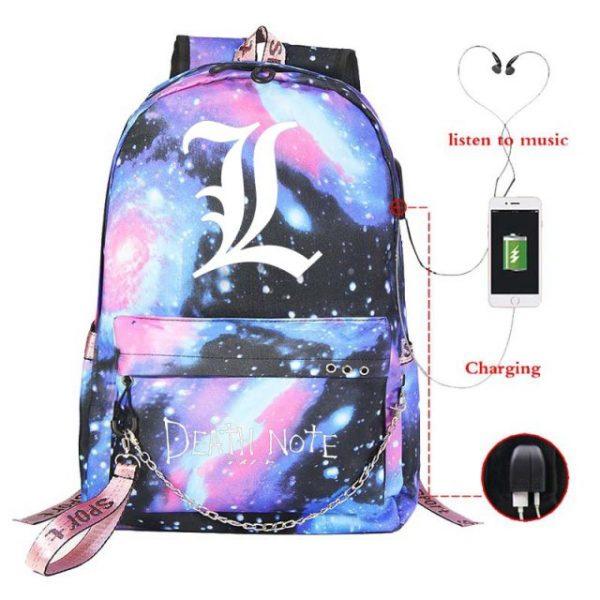 New Anime Death Note USB Backpack School Bags Bookbag Men Women Travel Laptop Shoulder Bags Gift 23.jpg 640x640 23 - Anime Backpacks