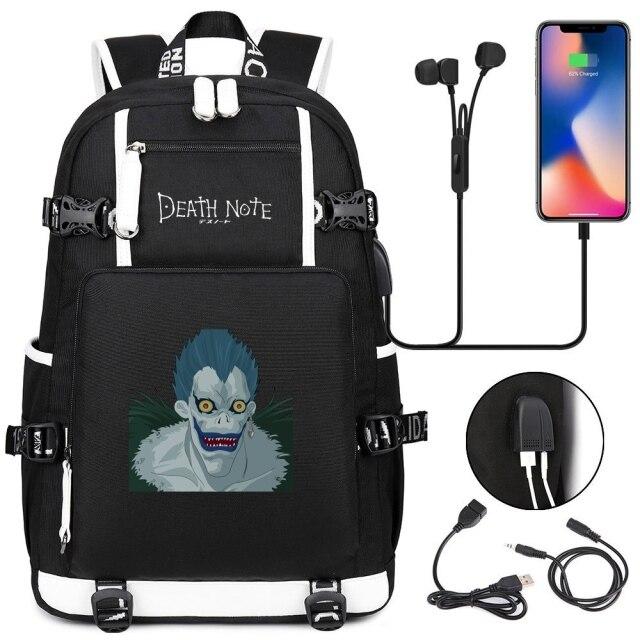 New Anime Death Note USB Backpack School Bags Bookbag Men Women Travel Laptop Shoulder Bags Gift 4.jpg 640x640 4 - Anime Backpacks