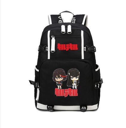 New Japanese Anime Harajuku KILL la KILL Matoi Ryuuko Printing Backpack Canvas School Bags for Teenagers 3 - Anime Backpacks