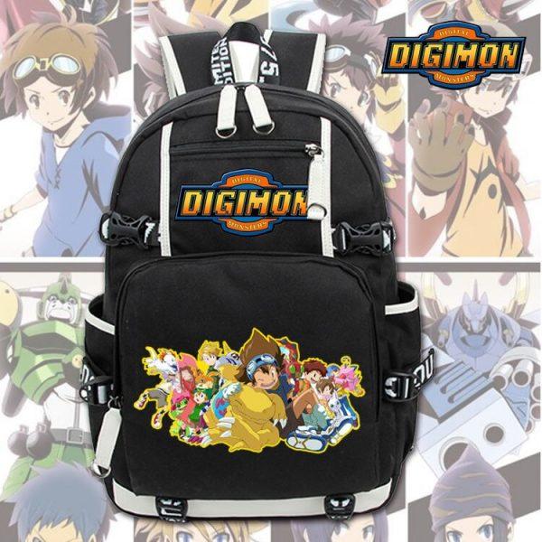 New Unisex Anime Digimon Backpack Knapsack Black Packsack School Otaku Bags 2 - Anime Backpacks