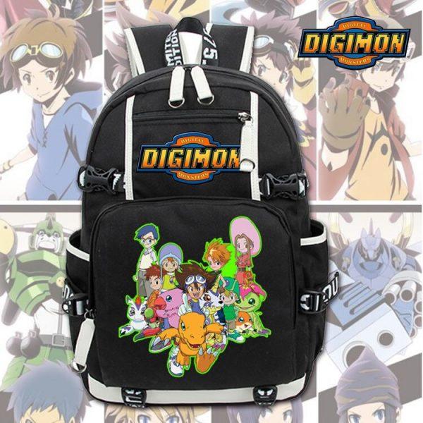 New Unisex Anime Digimon Backpack Knapsack Black Packsack School Otaku Bags 3 - Anime Backpacks