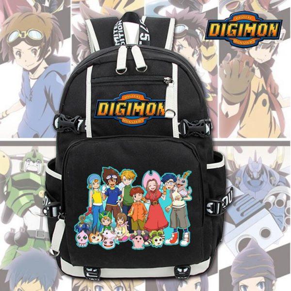 New Unisex Anime Digimon Backpack Knapsack Black Packsack School Otaku Bags 4 - Anime Backpacks