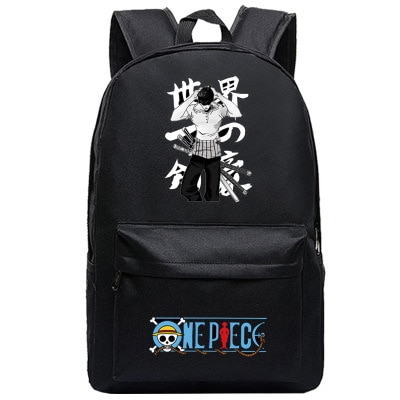 One Piece Backpack Luffy Teenagers Anime Rucksack Canvas Zoro Ace Gear Fourth Schoolbag 5 - Anime Backpacks