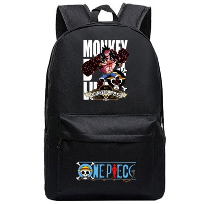One Piece Backpack Luffy Teenagers Anime Rucksack Canvas Zoro Ace Gear Fourth - Anime Backpacks
