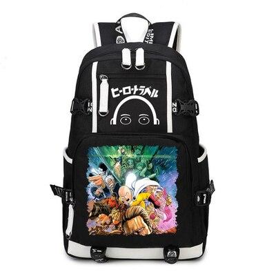 One Punch Man Backpack Anime Saitama Cosplay Nylon School Bag Travel Bags 2 - Anime Backpacks