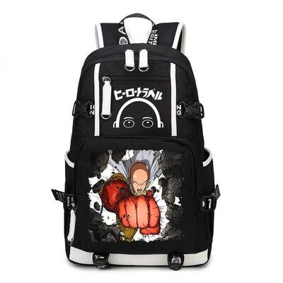One Punch Man Backpack Anime Saitama Cosplay Nylon School Bag Travel Bags 7.jpg 640x640 7 - Anime Backpacks