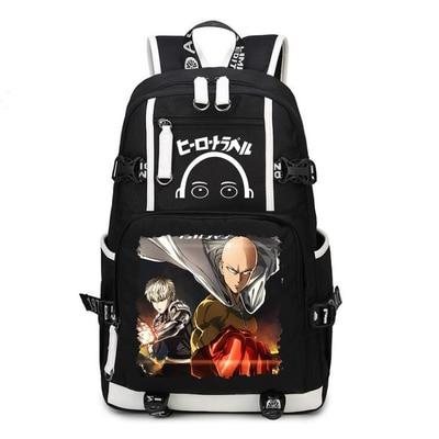 One Punch Man Backpack Anime Saitama Cosplay Nylon School Bag Travel Bags - Anime Backpacks