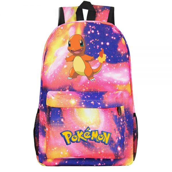 Orinigal Takara Tomy Pokemon Charmander Backpack Ainme Cartoon Print Schoolbag Fashion Casual Backpack Kids Christmas Gifts 1 - Anime Backpacks
