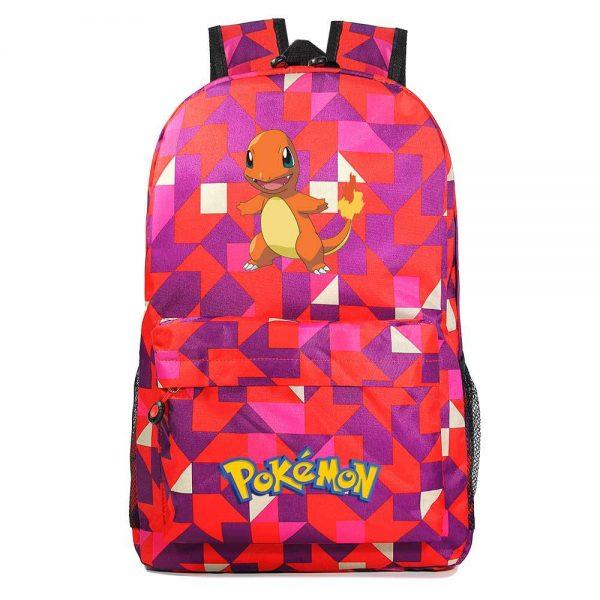 Orinigal Takara Tomy Pokemon Charmander Backpack Ainme Cartoon Print Schoolbag Fashion Casual Backpack Kids Christmas Gifts 2 - Anime Backpacks
