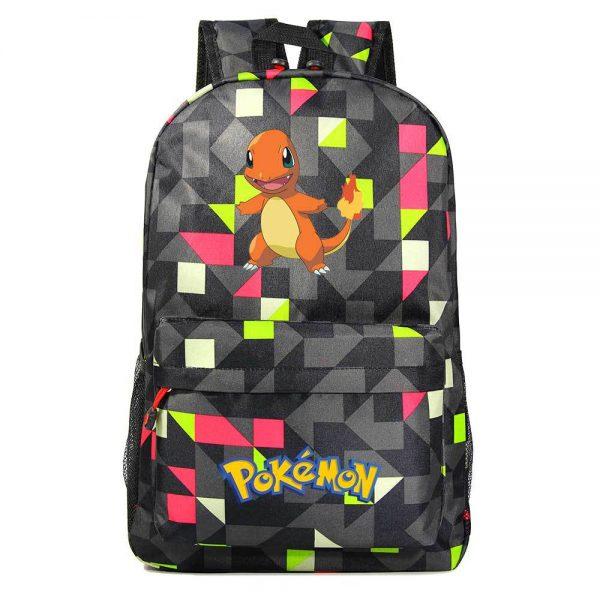 Orinigal Takara Tomy Pokemon Charmander Backpack Ainme Cartoon Print Schoolbag Fashion Casual Backpack Kids Christmas Gifts 3 - Anime Backpacks