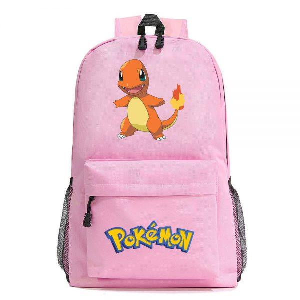Orinigal Takara Tomy Pokemon Charmander Backpack Ainme Cartoon Print Schoolbag Fashion Casual Backpack Kids Christmas Gifts 4 - Anime Backpacks