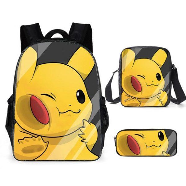 Pokemon Backpack Shoulder Bag Pencil Bag 28 Styles Baby Girl Backpack Cute Bags for Girls Christmas 11.jpg 640x640 11 - Anime Backpacks