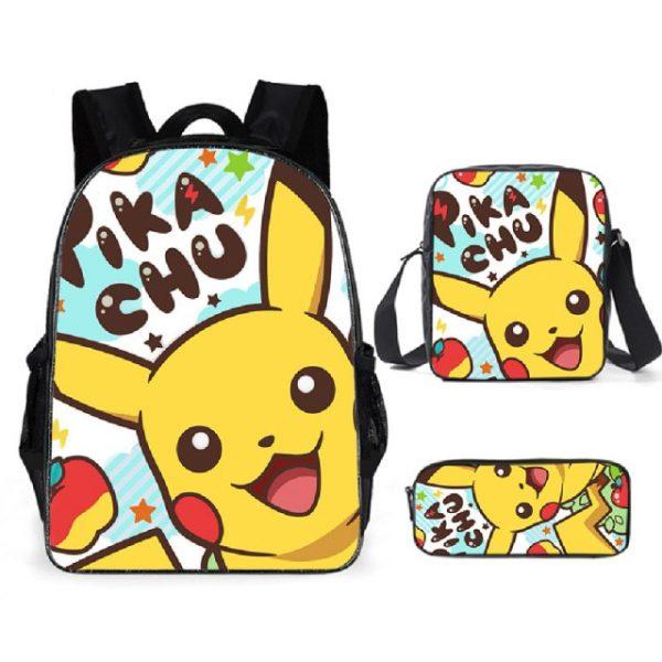 Pokemon Backpack Shoulder Bag Pencil Bag 28 Styles Baby Girl Backpack Cute Bags for Girls Christmas 17.jpg 640x640 17 - Anime Backpacks