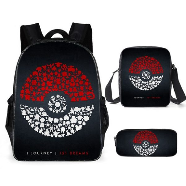 Pokemon Backpack Shoulder Bag Pencil Bag 28 Styles Baby Girl Backpack Cute Bags for Girls Christmas 4.jpg 640x640 4 - Anime Backpacks
