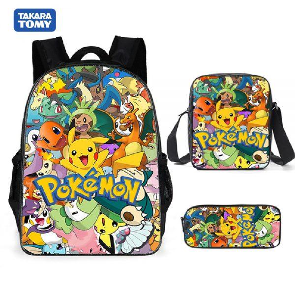 Pokemon Backpack Shoulder Bag Pencil Bag 28 Styles Baby Girl Backpack Cute Bags for Girls Christmas - Anime Backpacks