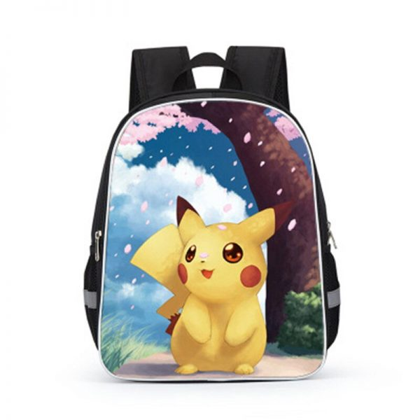 Pokemon Cartoons Anime Figure Pikachu Children s School Backpack Kids Pokemon School Bags Design 3D Backpack 2 - Anime Backpacks