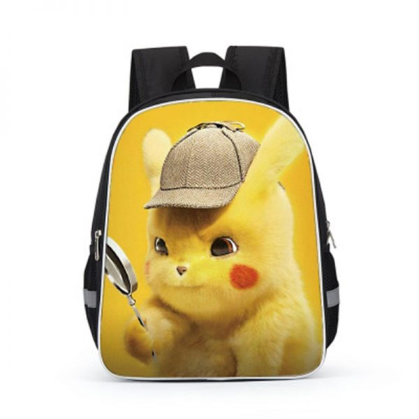 Pokemon Cartoons Anime Figure Pikachu Children s School Backpack Kids Pokemon School Bags Design 3D Backpack 3 - Anime Backpacks