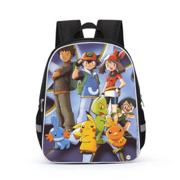 Pokemon Cartoons Anime Figure Pikachu Children s School Backpack Kids Pokemon School Bags Design 3D Backpack 3.jpg 640x640 3 - Anime Backpacks