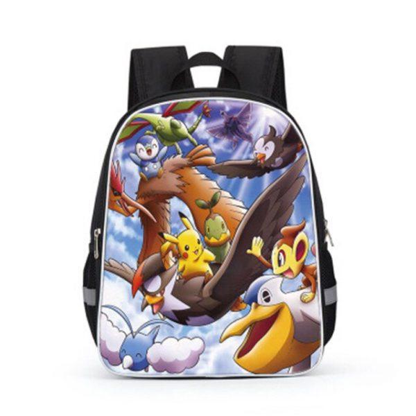 Pokemon Cartoons Anime Figure Pikachu Children s School Backpack Kids Pokemon School Bags Design 3D Backpack 9.jpg 640x640 9 - Anime Backpacks