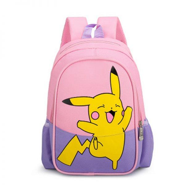 Pokemon Children Backpack Girl Boy Unisex Knapsack Anime Figure Pikachu Rucksack School Bag Child Kids Cartoon - Anime Backpacks