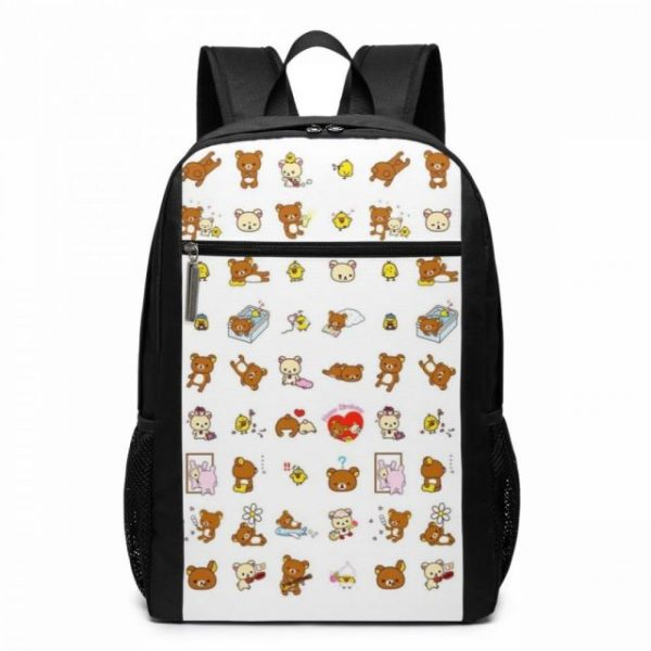 Rilakkuma Backpack Cute Rilakkuma Squishy Cheeks Print Backpacks Multi Function Print Bag Teen Sports Man Woman 4.jpg 640x640 4 - Anime Backpacks