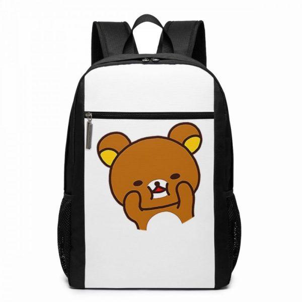 Rilakkuma Backpack Cute Rilakkuma Squishy Cheeks Print Backpacks Multi Function Print Bag Teen Sports Man Woman - Anime Backpacks