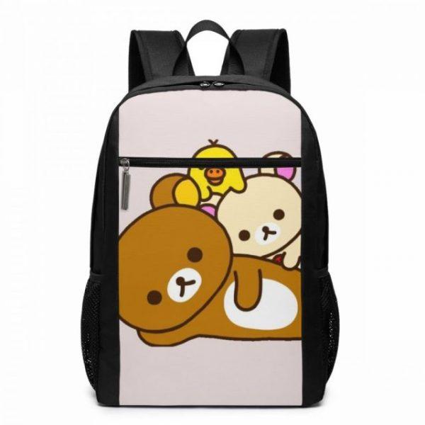 Rilakkuma Backpack Cute Rilakkuma Squishy Cheeks Print Backpacks Multi Function Print Bag Teen Sports Man - Anime Backpacks