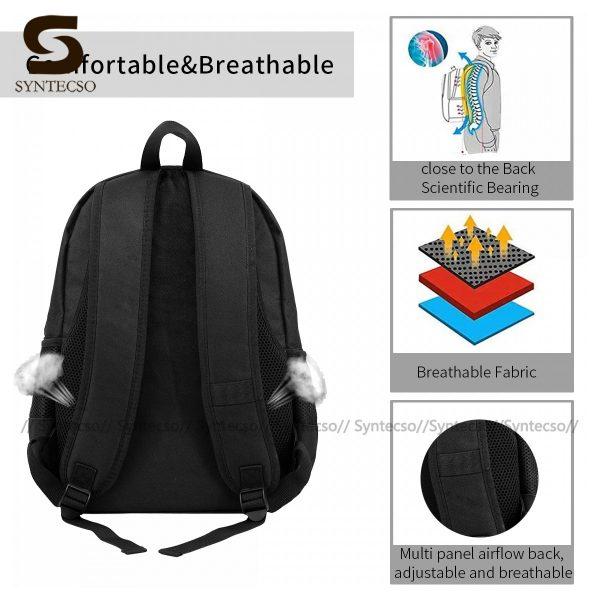 Samurai Champloo Backpacks Cute Polyester Cycling Backpack Male Pattern Bags 5 - Anime Backpacks