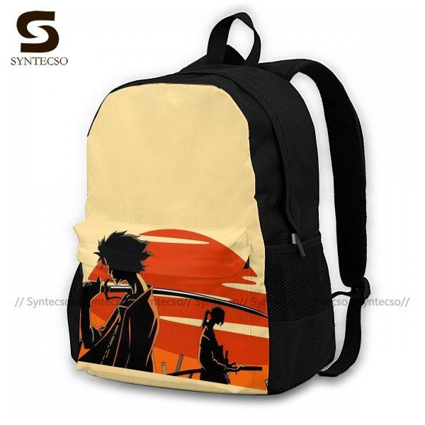 Samurai Champloo Backpacks Cute Polyester Cycling Backpack Male Pattern Bags - Anime Backpacks