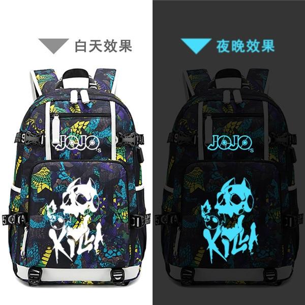 Street Style JoJo s Bizarre Adventure Oxford School Bags USB Charging Laptop Backpack Waterproof Travel Backpack 13.jpg 640x640 13 - Anime Backpacks