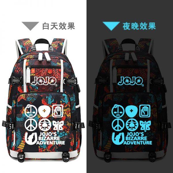 Street Style JoJo s Bizarre Adventure Oxford School Bags USB Charging Laptop Backpack Waterproof Travel Backpack 3 - Anime Backpacks