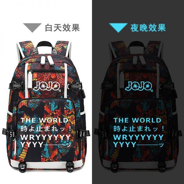 Street Style JoJo s Bizarre Adventure Oxford School Bags USB Charging Laptop Backpack Waterproof Travel Backpack 4 - Anime Backpacks