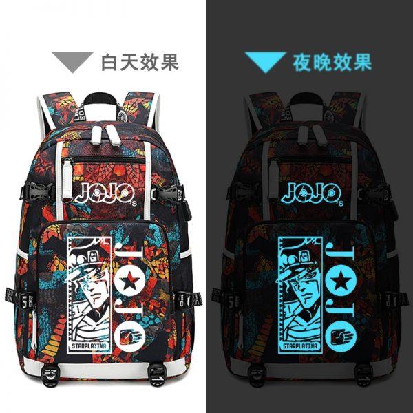 Street Style JoJo s Bizarre Adventure Oxford School Bags USB Charging Laptop Backpack Waterproof Travel Backpack - Anime Backpacks