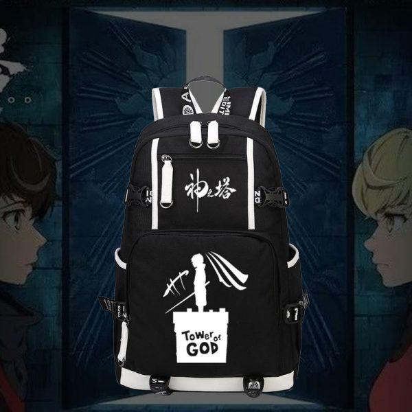 Tower of God Backpack Twenty Fifth Bam Rachel Anime School Bags luminous Travel Bagpack USB Laptop - Anime Backpacks