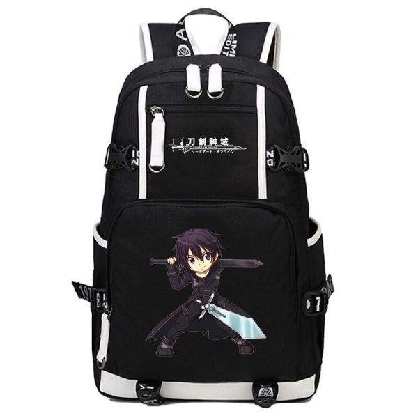 anime Sword Art Online SAO Backpack Cartoon School Travel Bag for Teenagers Nylon Mochila Escolar Rucksack 1 - Anime Backpacks